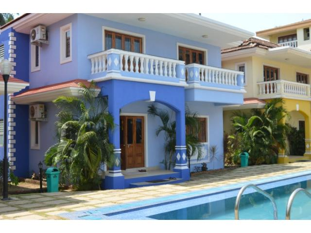 Goa luxury villa and vacation apartment rentals vacation for Small house for sale in goa